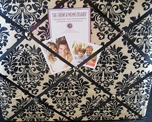 The French Memo Board-a Creative Display for Photos, Mementos, Greeting Cards and Much More-Contemporary -Black and Cream Damask- Factory Sealed