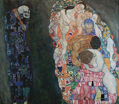 Get Custom Art Gustav Klimt – Tod und Leben Antike & klassische Kunst 24x28 inch Kunstdruck auf Leinwand