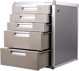 LIUYULONG Armoire de rangement multifonctionnelle verrouillable avec 4/5 tiroirs en alliage d'aluminium, armoire de rangem...