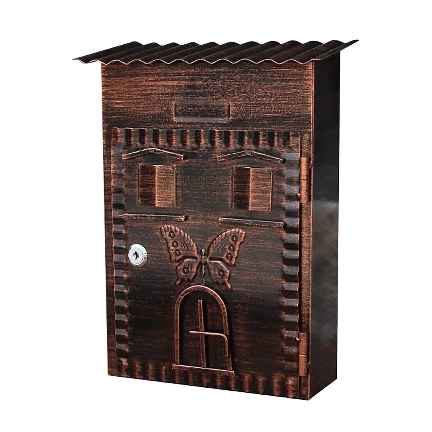 抑止する肉腫ボーダー外箱、壁掛け郵便箱、屋外郵便箱、亜鉛メッキ板材、装飾郵便箱、Size22 * 9.5 * 34のためのメールボックス