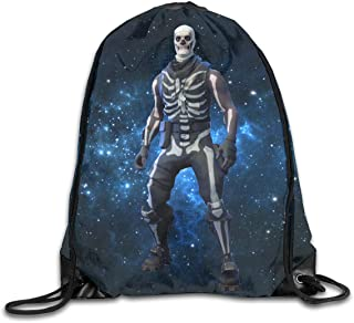 CAOI UUC Fornite Skull Trooper Gym Drawstring Backpack Cinch Sack