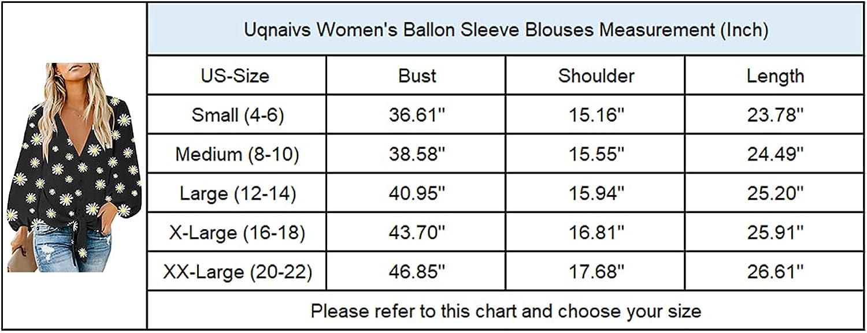Uqnaivs Womens V Neck Button Down Shirt 3/4 Sleeve Blouses Tie Knot Tops