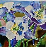 Tile Craft 6 X 6 INCH Columbine Flower Art Tile