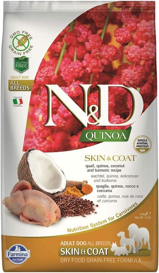 Farmina ND Functional Quinoa Skin Quail Turm Coat Bombing new Max 67% OFF work Coconut and