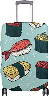 Mydaily Cartoon Sushi Luggage Cover Fits 18-32 Inch Suitcase Spandex Travel Baggage Protector