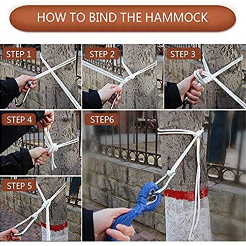 Hamaca/ocio al aire libre hamaca swing interior colgante silla rollover prevención sola doble lona hamaca