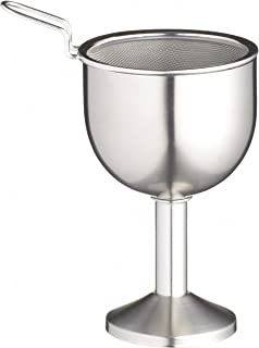 BAR CRAFT KCBCFUNNEL Wine Decanter Funnel with Built-in Aerator and Removable Filter Mesh, Stainless Steel, Argent, 3 Piec...