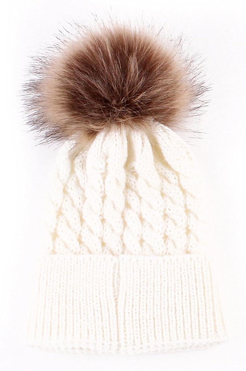 oenbopo Baby Brand Cheap Sale Venue Limited price sale Winter Warm Knit Hat Toddler Kid Infant Crochet Fur