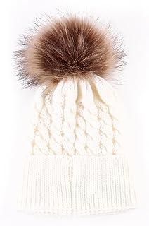 432f7ed39fbf8 oenbopo Baby Winter Warm Knit Hat Infant Toddler Kid Crochet Hairball  Beanie Cap