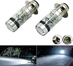 For Kawasaki Bayou 220 300 KFX 400 KLX 250R 300 Lakota Prairie 360 400 100W Xenon White High Power H6 LED Headlights Bulbs (2PCS)