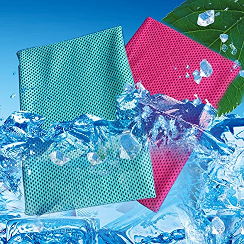 LESVIEO Cooling Towel,Instant Cooling Relief for Sports, Workout, Fitness, Gym, Yoga, Pilates, Travel, Camping