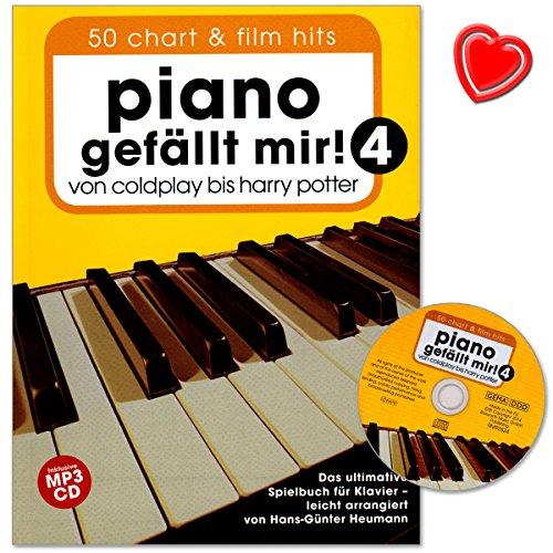 Piano gefällt mir Band 4 mit CD - 50 Chart und Film Hits von Coldplay bis Harry Potter. Das ultimative Spielbuch für Klavier mit Notenklammer - BOE7757 9783865438652