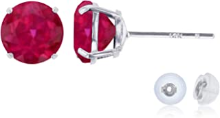 Best white gold ruby studs Reviews
