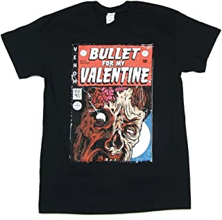 Bullet For My Valentine Comic Book Cover Black T Shirt
