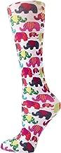 Cutieful Women's Nylon 8-15 Mmhg Compression Sock Elephants