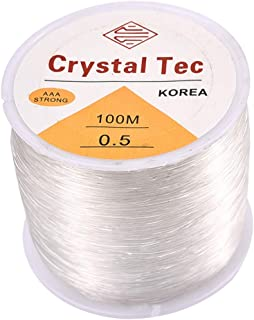 OBSEDE 0.5mm Elastic Cord Beading Threads Stretch String Fibre Crafting Cords for Jewelry Making
