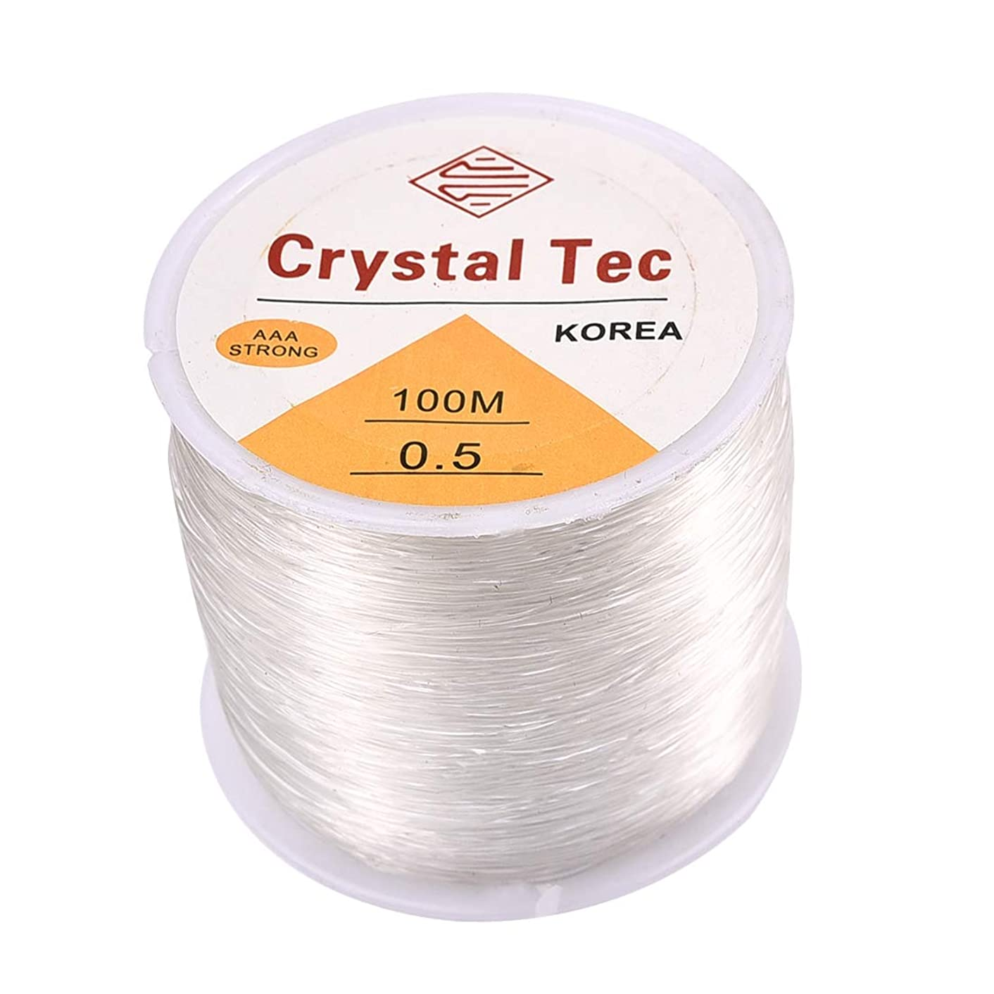1 Roll 100M Elastic Bracelet String Cord Clear Stretch Bead Cord for Jewelry Making and Bracelet Making 0.5mm×100m White B