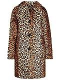 King Louie Betty - Abrigo para mujer, diseño de leopardo Negro 44