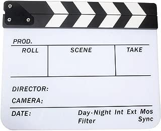Semoic Acrylic Clapboard Dry Erase Movie Clapper Board Slate 29.8 x 24.5cm