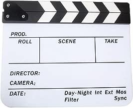 SODIAL R  Acrylic Clapboard Dry Erase Movie Clapper Board Slate 29 8 24 5cm