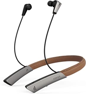 Edifier W380NB Bluetooth Headphones, Wireless Neckband Headset with Call Vibrate, Active Noise Cancelling Stereo Earphones Brown