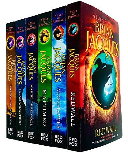 Redwall Series Books 1 - 6 Collection Set by Brian Jacques (Redwall, Mossflower, Mattimeo, Mariel of Redwall, Salamandastron & Martin the Warrior)