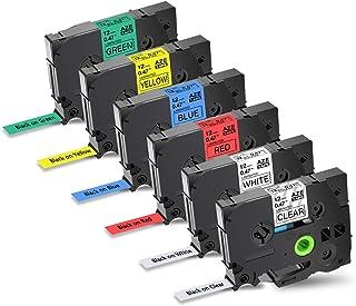 Nineleaf 12mm 互換 TZe 131 TZe 231 TZe 431 TZe 531 TZe 631 TZe 731 ピータッチ テープ Brother ブラザー TZeテープ P-Touch cube pt p300bt キューブ...