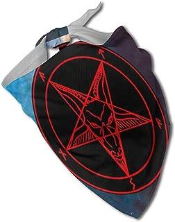 Fengyaojianzhu Satanic Symbol Star Dog Bandana Collars Triangle Neckerchief Bibs Scarfs Accessories Pet Cats and Baby Puppies Saliva Towel