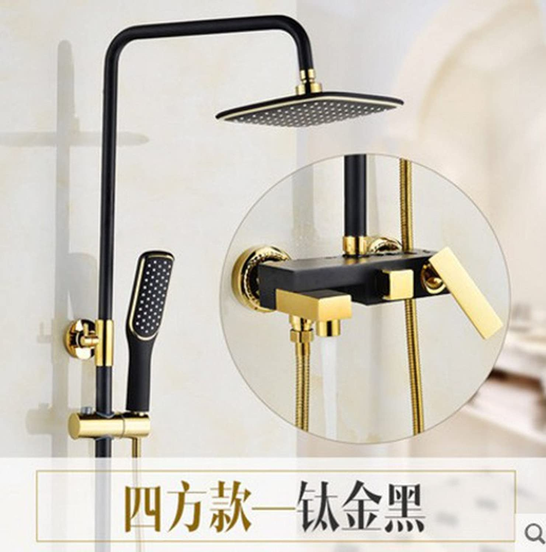 ZQ@QXAntique Cu all continental black gold shower Suite B