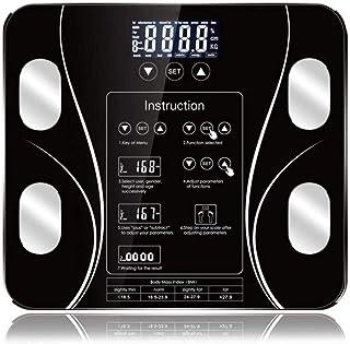 KLT Báscula de pesaje Inteligente de la Grasa del Cuerpo de la Escala LCD Monitor de Cuerpo de Alta Precisión Bluetooth App de Baño Báscula Electrónica Smart Home 180Kg