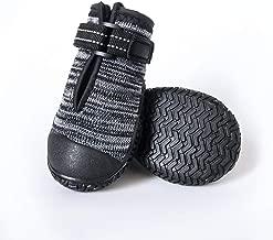 ASMPET Dog Boots Mesh Dog Boots Waterproof Dog Shoes,Anti Slip Reflective Paw Protector Dog Socks 2PCS
