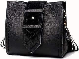Fine Bag/Handbag Women's Retro Bucket Bag Casual Fashion Handbag Shoulder Bag Messenger Bag Portable (Color : Black, Size : One Size)
