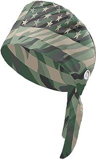 قبعة العمل الحديثة من «وينوو» مع ازرار وعصابة راس، قبعة عمل برباط خلفي قابلة للتعديل للنساء والرجال بمقاس موحد