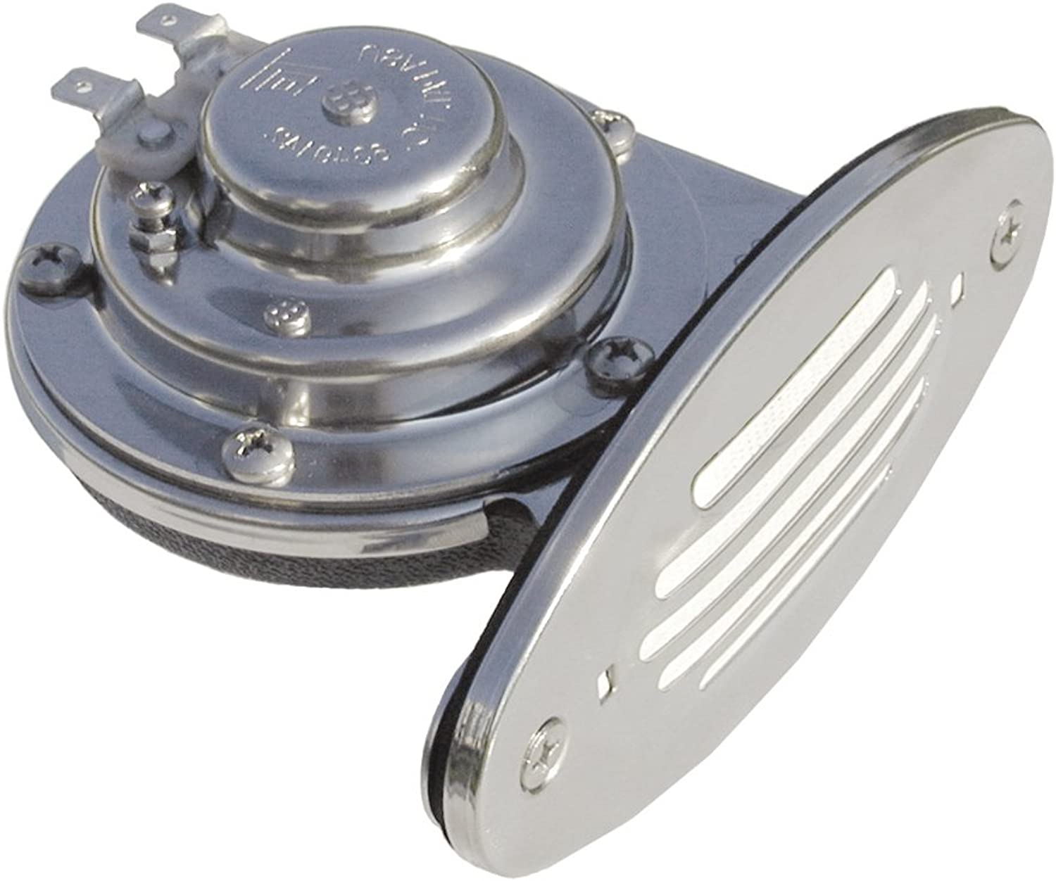 1  Ongaro Mini Single DropIn Horn w SS Grill  12V Low Pitch