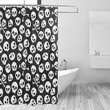 jstel Skulls Duschvorhang Schimmelresistent & Polyester-Wasserdicht-182,9x 182,9cm für Home Extra Lang Badezimmer Deko Dusche Bad Gardinen Liner mit 12Haken