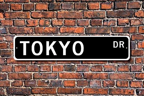 Metall Stree Tokio Schild Tokio Besucher Tokio Geschenk Tokio Souvenir Japans Hauptstadt Tokio Native Aluminium Wand Poster Yard Zaun Schild