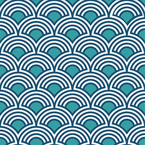 Plakdecoratie voor tegels 268526 terralba, 6 tegels, grijs, 15 x 15 cm