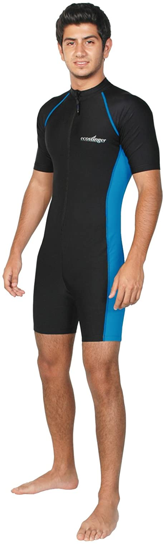 Men Sun Protective Sunsuit 5 ☆ Austin Mall very popular Full Sleeves Swimsuit Short Body UPF5