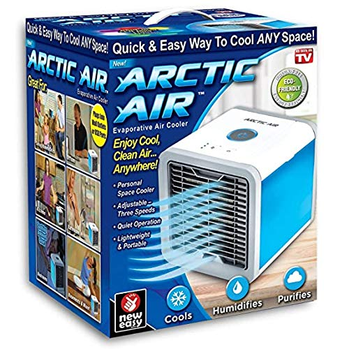 Saleshop365® Artic Air Humidifier Mini Portable Air Cooler Fan Arctic Air Personal Space Cooler The Quick & Easy Way to Cool Any Space Air Conditioner Device Home