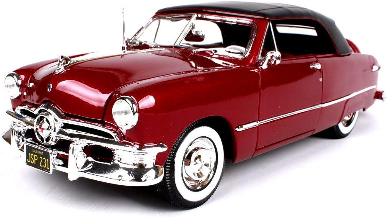100% precio garantizado LUCKYCoche Ford Ford Modelo 1950 de aleación de simulación de de de Capota Blanda, Compartimiento de Equipaje Motor se Puede Abrir, relación 1 18, Puerta móvil, Modelo Acabado, 28,5 cm, Rojo  orden en línea