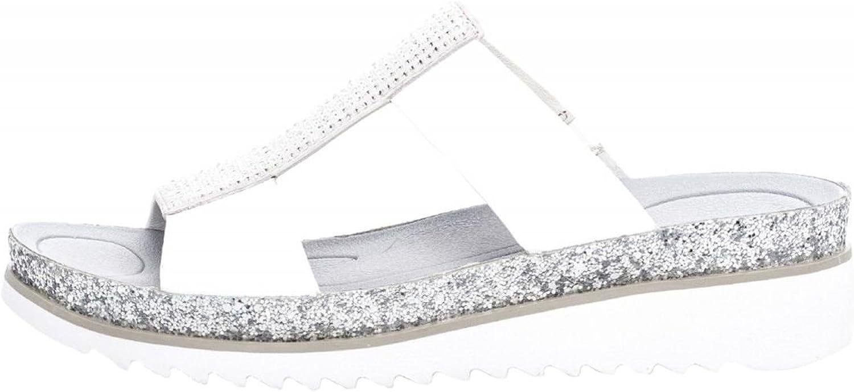 Gabor kvinnor Mules silver, (Weiss  is (Glitter)) (Glitter)) (Glitter)) 83.720.21  väntar på dig