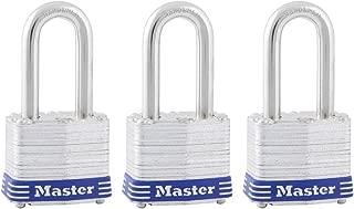 Master Lock 3TRILF Laminated Padlock, 3 Pack, Silver, 3 Piece