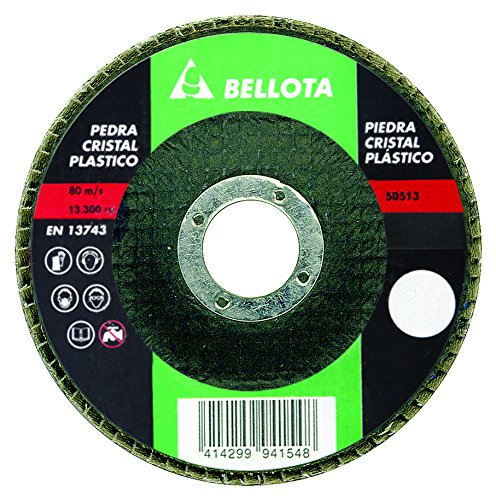 Bellota 50513-120 DISCO LAMINAS BASE FIBRA DE VIDRIO DESBASTE PIEDRA -CARBURO DE SILICIO (SIC120)115MM
