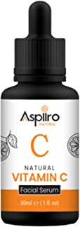Aspiiro Natural Vitamin C Serum For Face Whitening, Pigmentation, Radiant Skin & Anti Ageing - 30 ml | Serum For Face Glow...