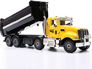 Static 1:50 Diecast Alloy Dump Truck Model, Metal Engineering Vehicle Construction Models Toys for Kids