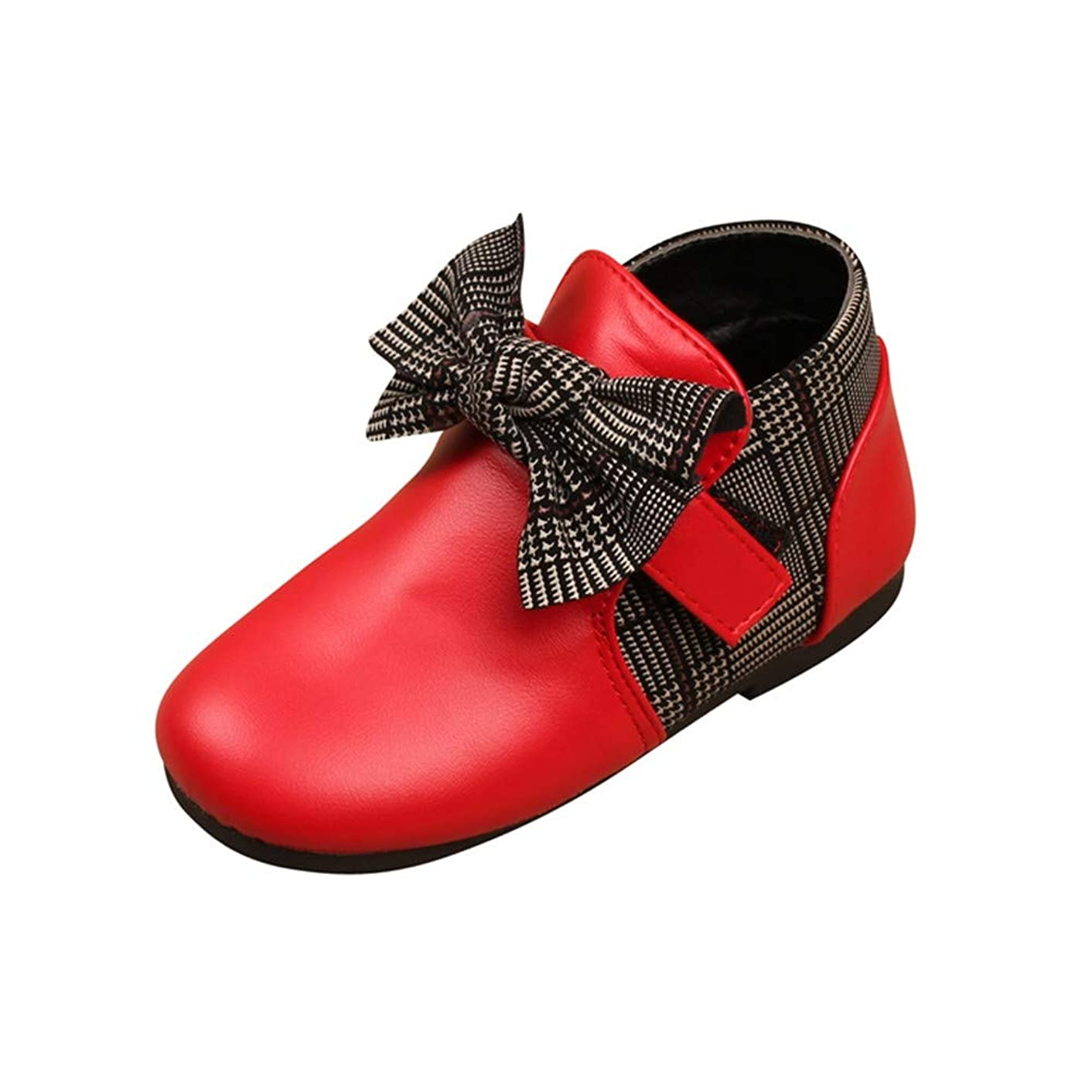 Lurryly?Children Kids Baby Girls Casual Shoes Leather Bowknot Martin Boots(Little Kid/Big Kid)