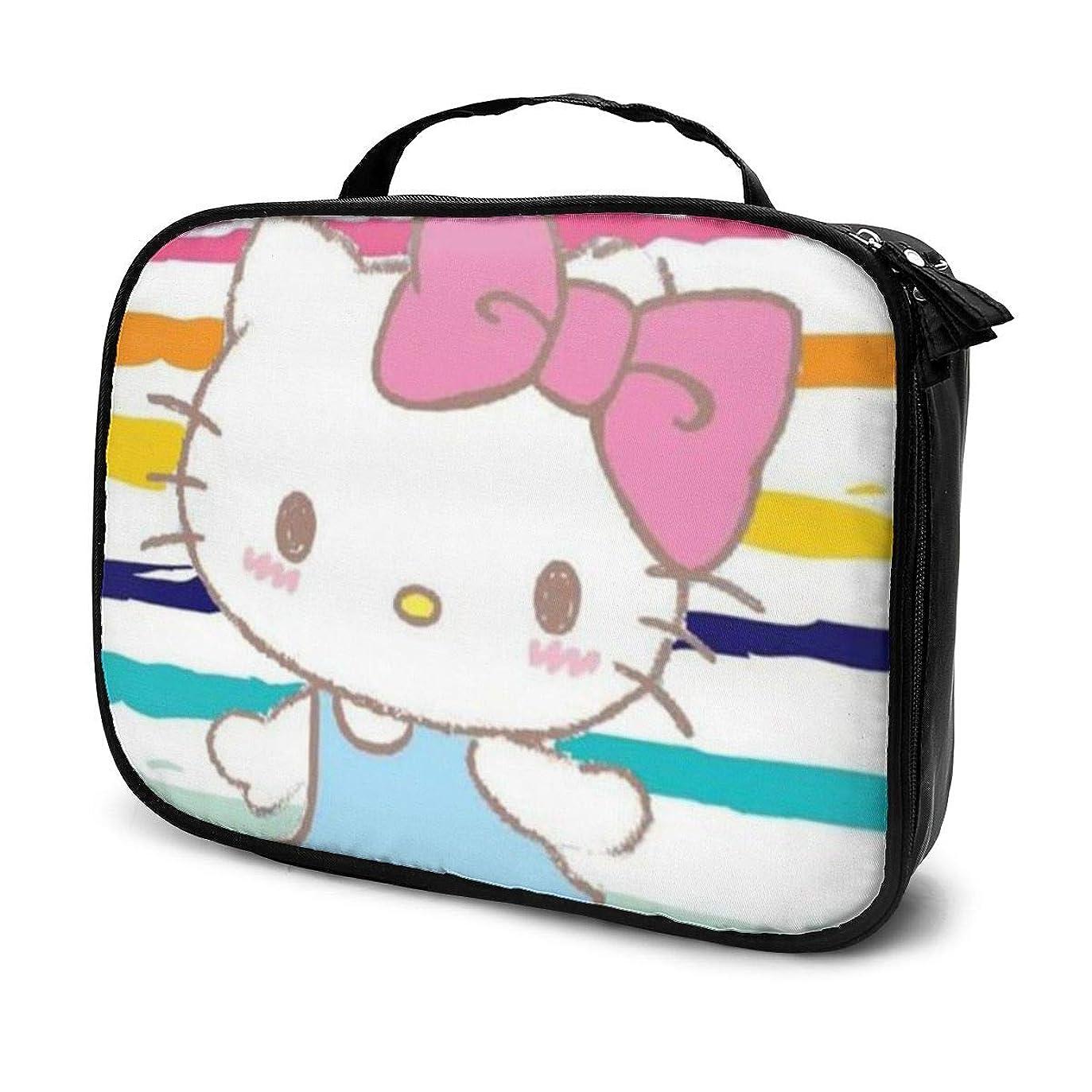 感嘆秘密の封建Daitu夏のハローキティ 化粧品袋の女性旅行バッグ収納大容量防水アクセサリー旅行