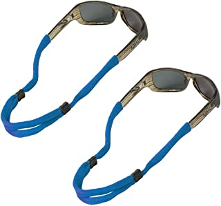 No Tail Adjustable Cotton Eyeglass and Sunglass Retainer / Strap, Royal Blue (2 Pack)
