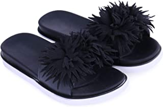 WMK Women's Slippers Indoor House or Outdoor Latest Fashion Peach Flower Flipflop Slipper for Women
