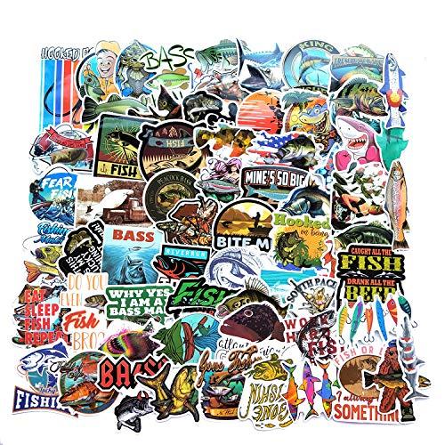HUNSHA 65 Angeln Angeln Cartoon Graffiti Aufkleber Koffer Gepäck Wasserdicht Auto Aufkleber